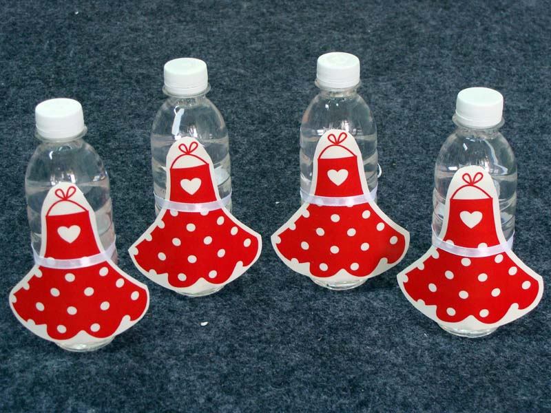 Bakery Party theme Water bottle wrappers
