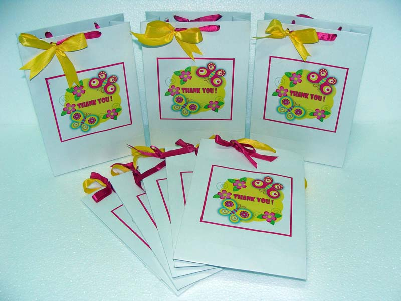 Pink and yellow Gift bags