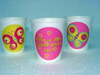 Butterfly Birthday theme Cups - Theme based