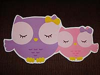 Baby Zoo theme Owl baby and mommy