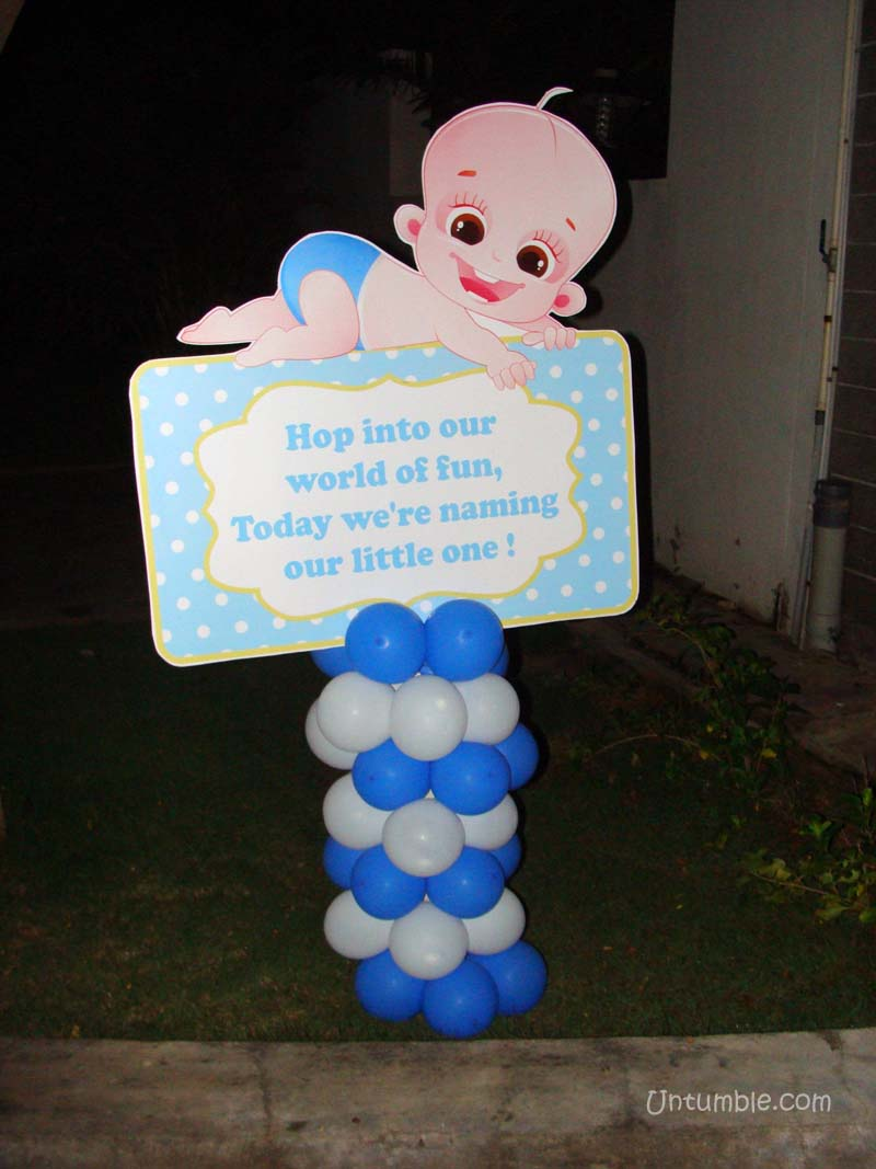 Welcome banner baby boy for Baby welcome party decoration ideas