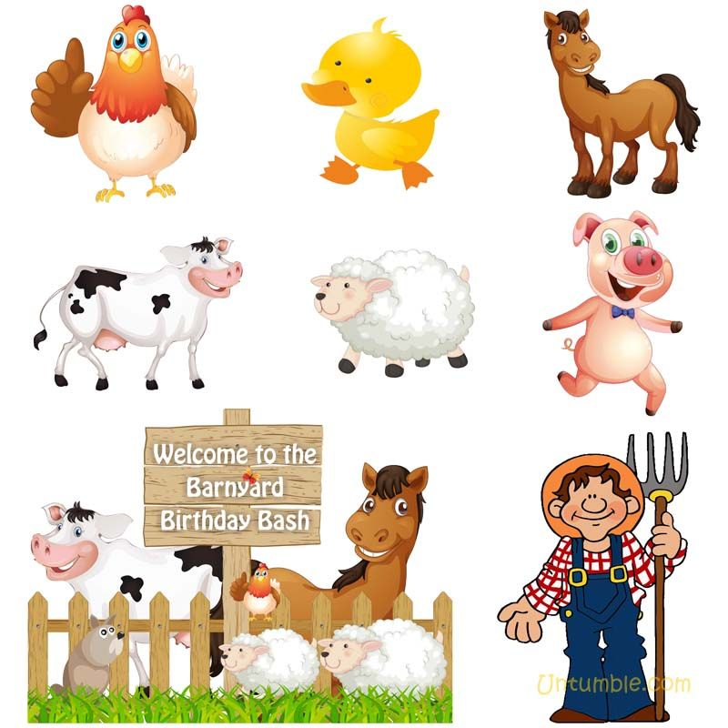 Barnyard Birthday Theme Kit Of Wall Cutouts