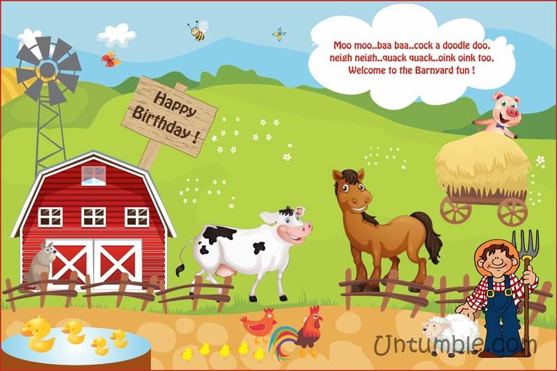 Barnyard Birthday Theme Backdrop Untumble Com