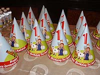 Barnyard Birthday theme Barn scene hats