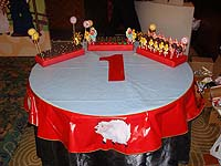 Barnyard Birthday theme Round table cover