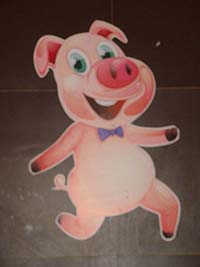 Barnyard Birthday theme Pig cutout