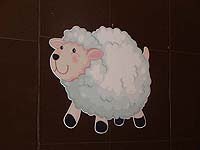 Barnyard Birthday theme Cute Sheep cutout