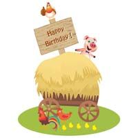 Barnyard Birthday theme Welcome banner