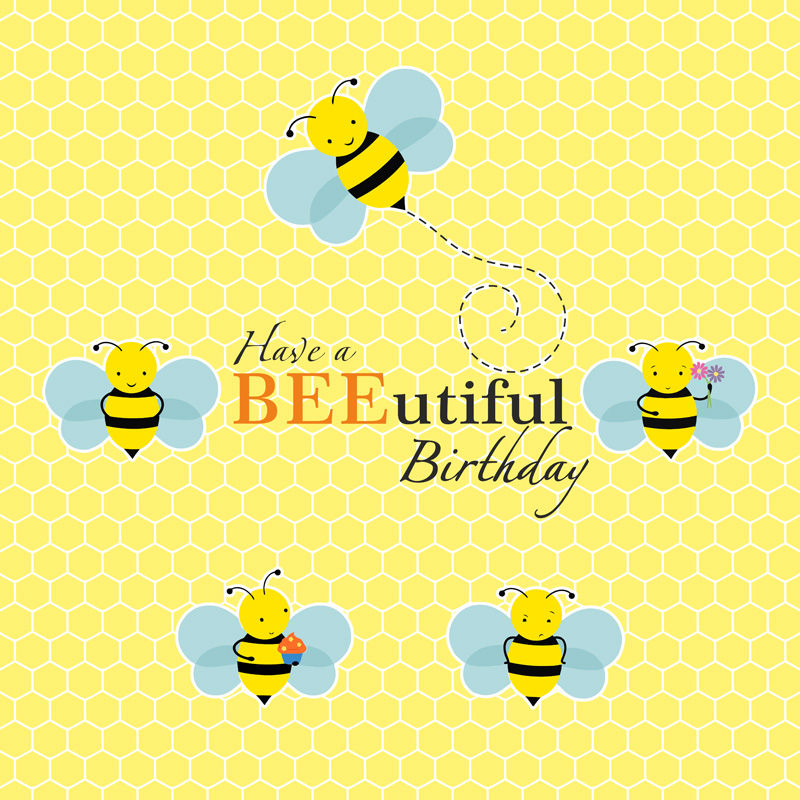 Bumble Bee Theme BEEutiful Birthday Banner