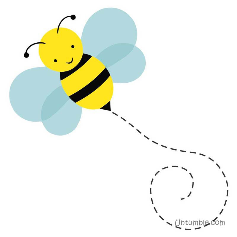 Bee flying with trail | Bumble Bee - Untumble.com