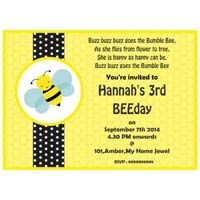 Bumble Bee theme Rectangular Invitations
