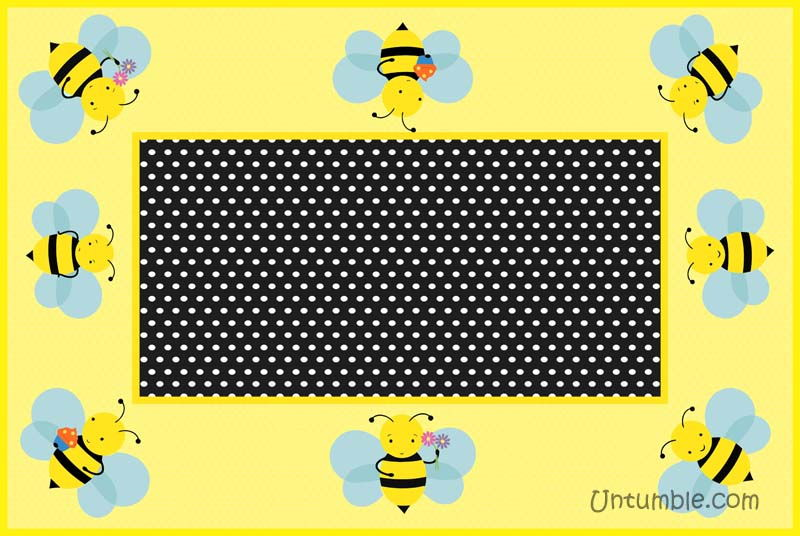Rectangular table cover with small bees