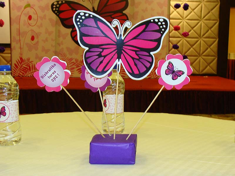 Pink butterfly birthday theme dark and purple