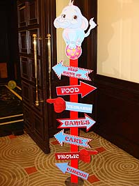 Circus theme Activity directions cutout