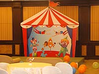 Circus theme Tent birthday banner