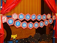 Circus theme Happy Birthday Banners