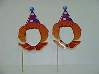 Circus theme Clown face photo props