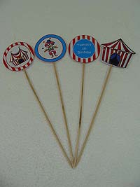 Circus theme Cup cake toppers