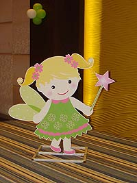 Fairy Princess theme Green fairy with flowers - posters