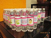 Fairy Princess theme Water bottle wrappers