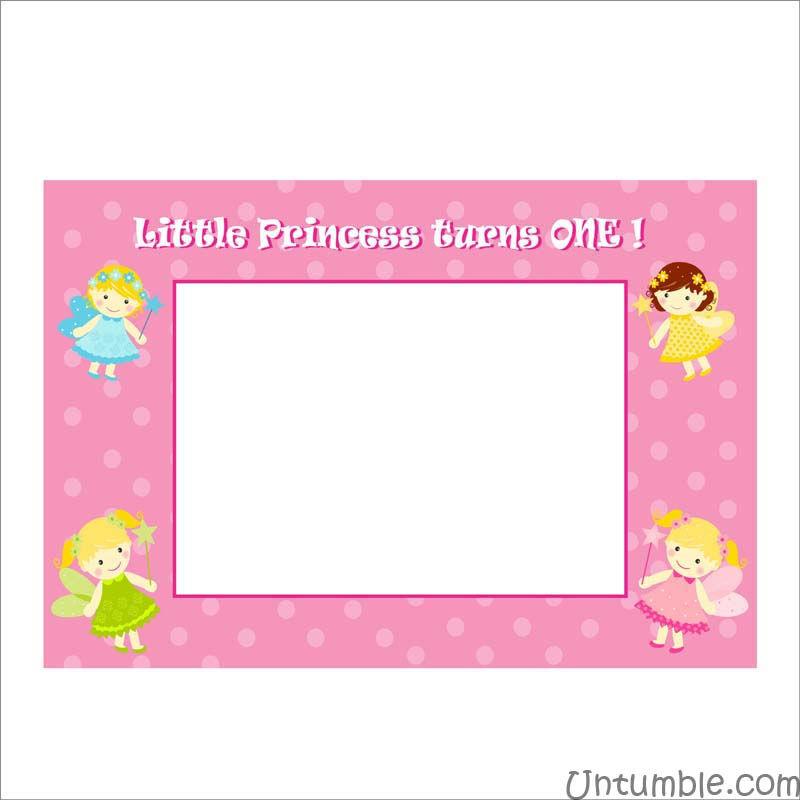 Fairy Princess theme Photo Frame - Untumble.com