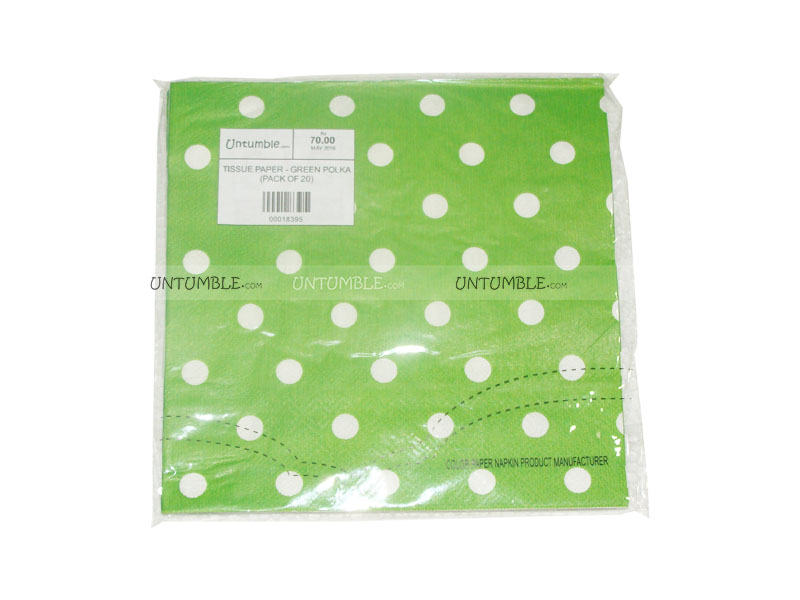 50th birthday theme tissue paper green polka pack of 20 for 50th birthday decoration packs