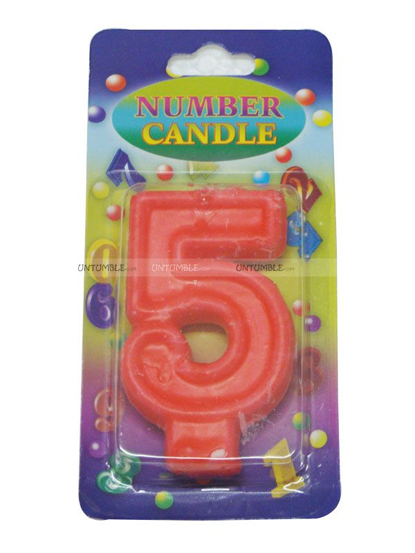 Floral Birthday Party Theme Number Candle