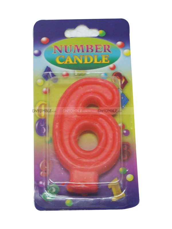 18th Birthday Theme Number Candle