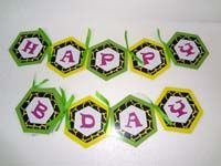 Jungle theme Happy Birthday Banners