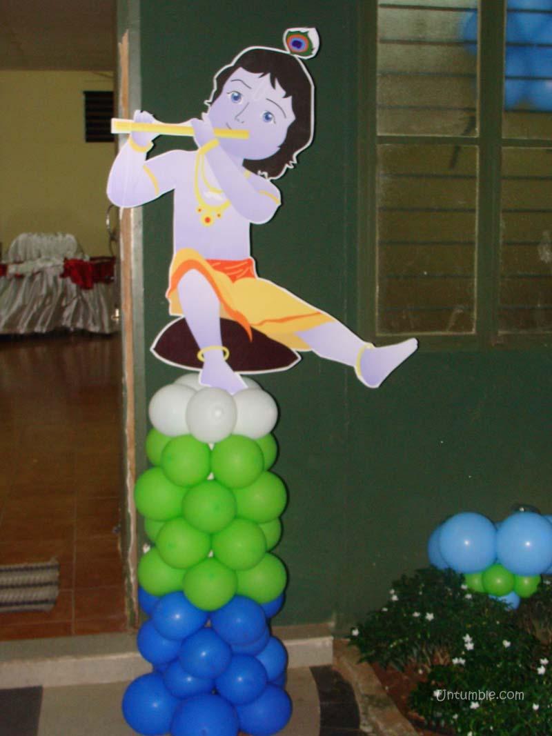 Little Krishna Theme Krishna Playing The Flute Poster