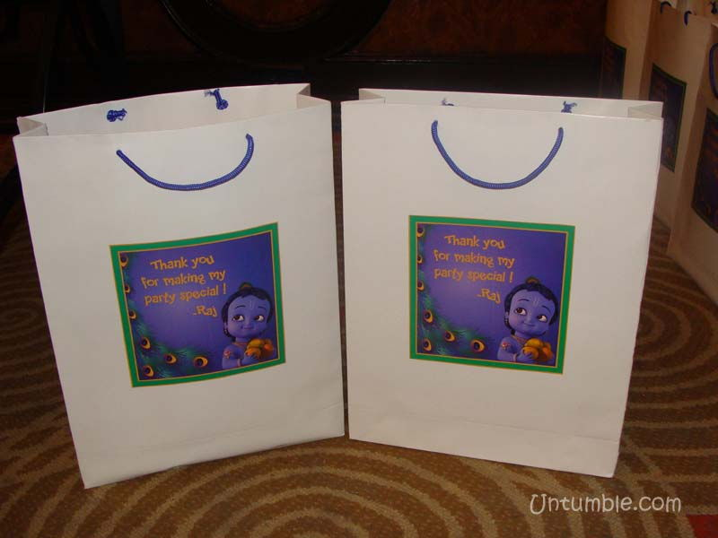 Little Krishna Theme Stickered Gift Bags
