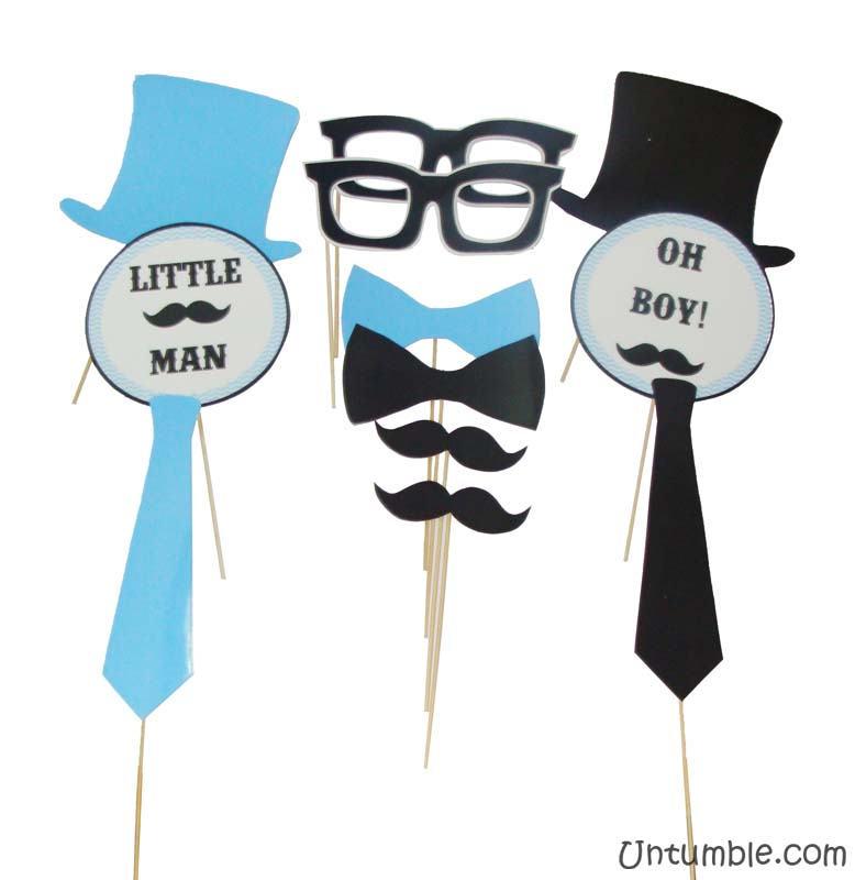 Little Man Theme Photo Booth Props Untumblecom