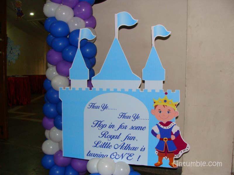 Little Prince theme Castle and confident prince cutout