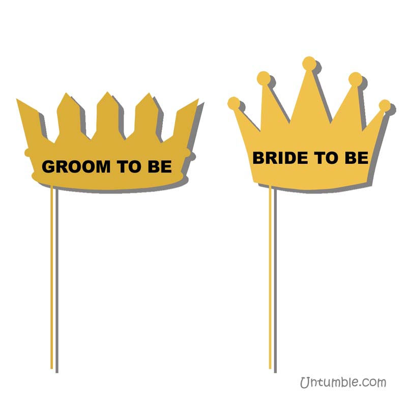 Groom and Bride photo prop