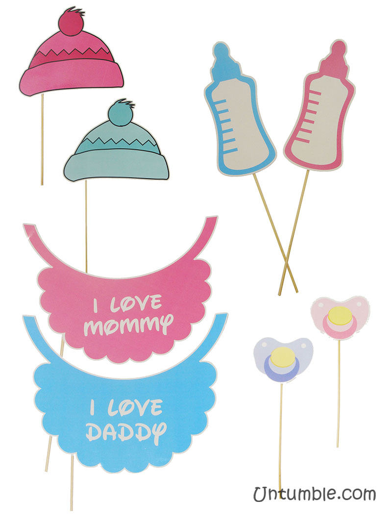 Pink Baby Shower Theme Photo Booth Props