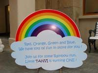 Rainbow theme Welcome board