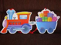 Vehicles theme Goods train poster