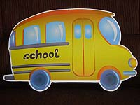 Vehicles theme School bus poster
