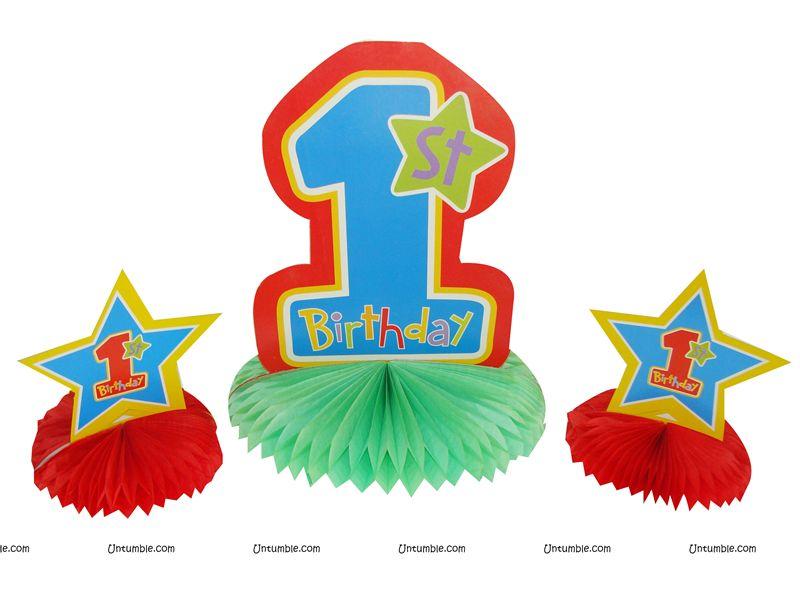 Pool Party Theme 1st Birthday Centerpieces