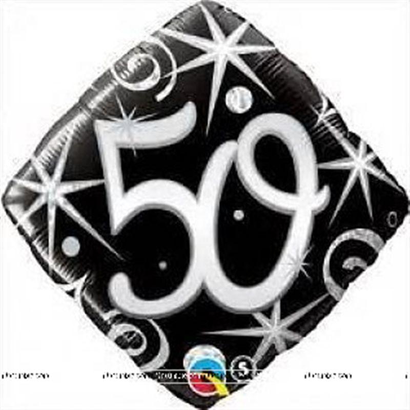 Train Theme 50th Birthday Foil Balloon