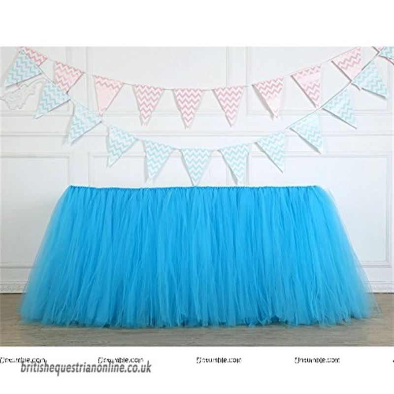 Blue tutu table skirt