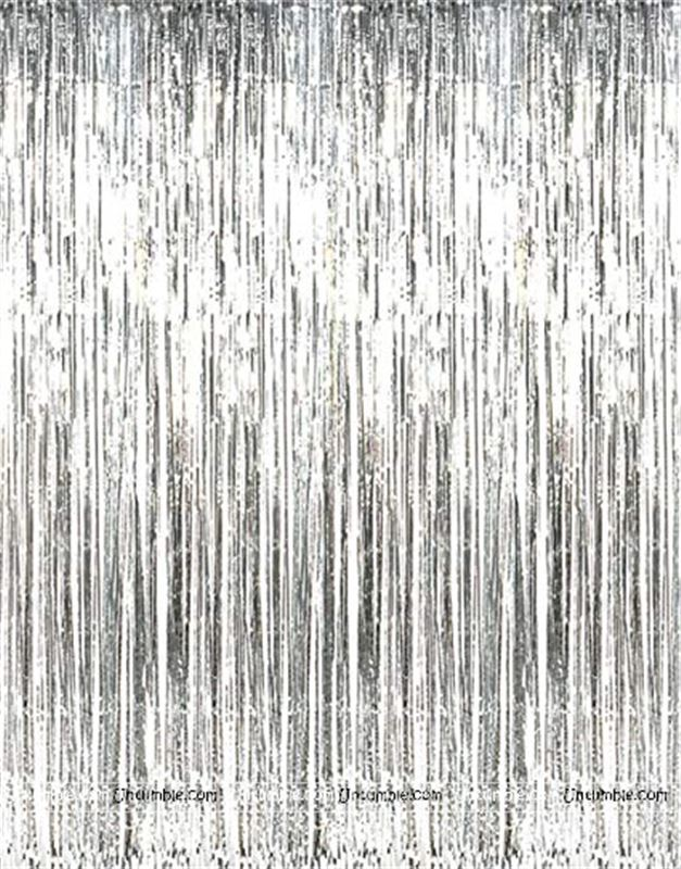 Silver  6*3 ft Foil Curtains  (set of 2 )