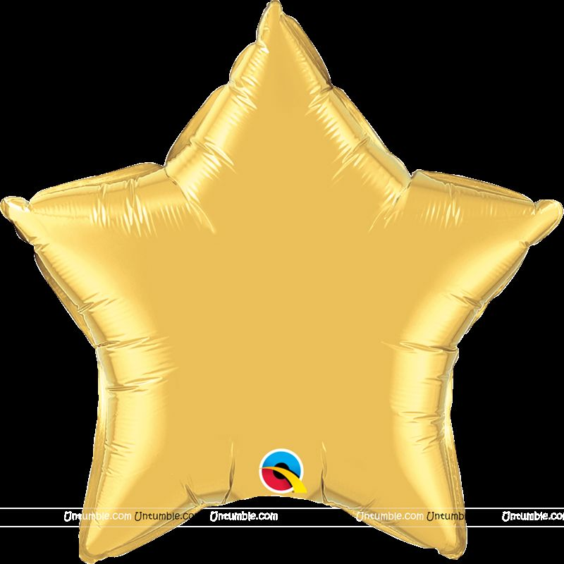 Gold Star Foil Balloon