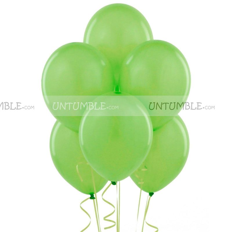 Green Latex Balloons (Pack of 20)