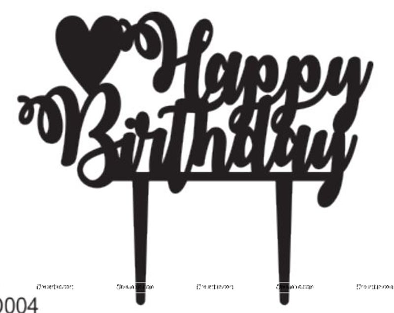 Jungle Theme Happy BIrthday Heart Start Cake Topper
