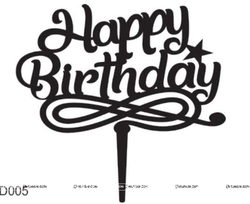 Magician Birthday Theme Happy BIrthday Music Cake Topper