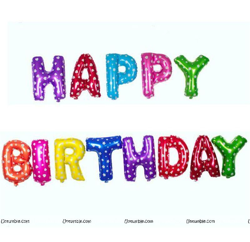 Circus Theme Happy Birthday Foil Balloons