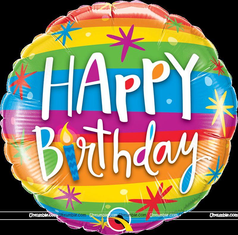 50th Birthday Theme Happy Multi Color Foil Balloon