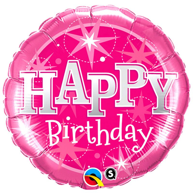Happy Birthday Pink Foil Balloon (18 inch)