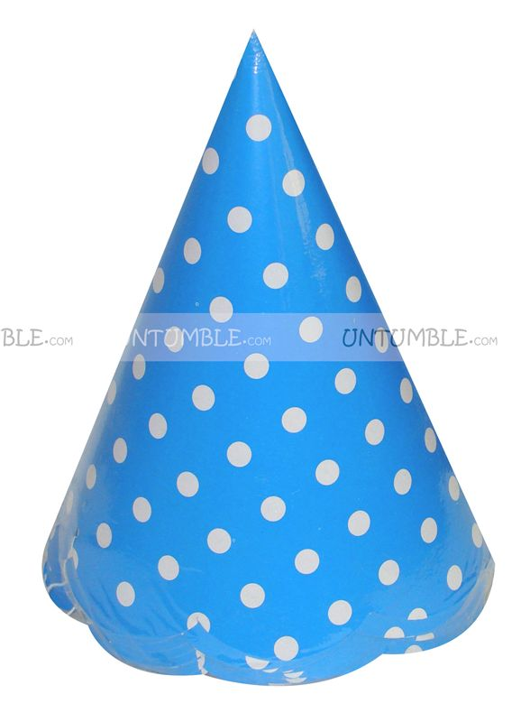 18th Birthday Theme Blue Polka Dot Hats